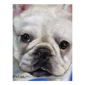 """Mr. French"" french Bulldog frenchie art painting Letterhead"