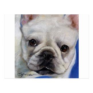 """Mr. French"" french Bulldog frenchie art painting Postcard"
