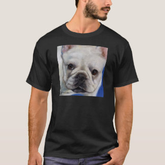 """Mr. French"" french Bulldog frenchie art painting T-Shirt"