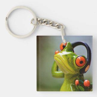 Mr. Frog with Headphones Acrylic Keychain