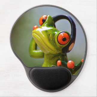 Mr. Frog with Headphones Gel Mouse Pad