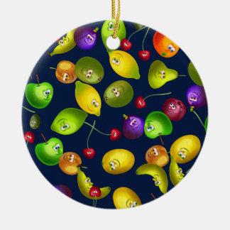 Mr Fruit Wallpaper Ceramic Ornament