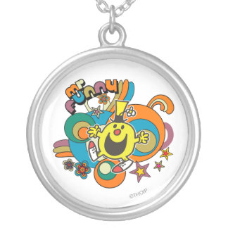 Mr. Funny | Colorful Stars & Swirls Round Pendant Necklace