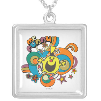 Mr. Funny | Colorful Stars & Swirls Silver Plated Necklace