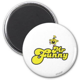 Mr. Funny Dancing On His Name 2 Inch Round Magnet