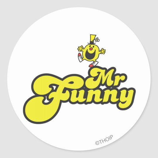 Mr. Funny Dancing On His Name Classic Round Sticker