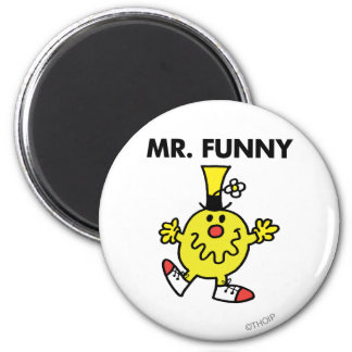 Mr. Funny | Funny Face 2 Inch Round Magnet
