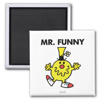 Mr. Funny | Funny Face 2 Inch Square Magnet
