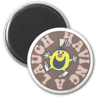 Mr. Funny Having A Laugh 2 Inch Round Magnet