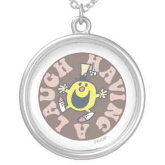 Mr. Funny Having A Laugh Round Pendant Necklace