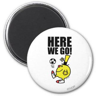 Mr. Funny Juggling A Soccer Ball 2 Inch Round Magnet