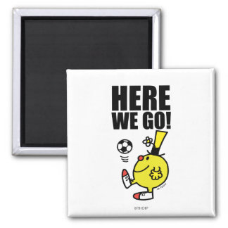 Mr. Funny Juggling A Soccer Ball 2 Inch Square Magnet