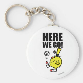 Mr. Funny Juggling A Soccer Ball Basic Round Button Keychain
