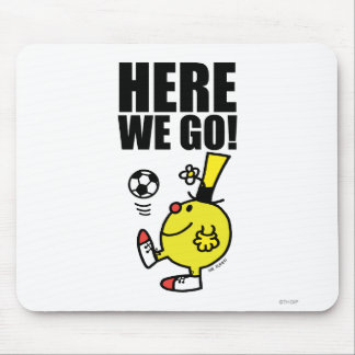 Mr. Funny Juggling A Soccer Ball Mouse Pad