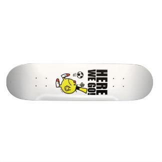 Mr. Funny Juggling A Soccer Ball Skateboard Deck