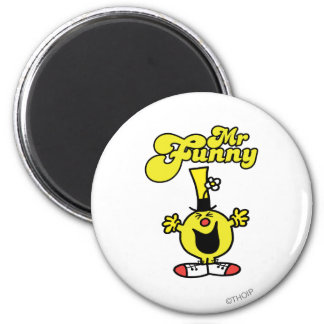 Mr. Funny Laughing Hysterically 2 Inch Round Magnet