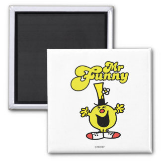 Mr. Funny Laughing Hysterically 2 Inch Square Magnet