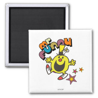 Mr. Funny | Shining Stars 2 Inch Square Magnet