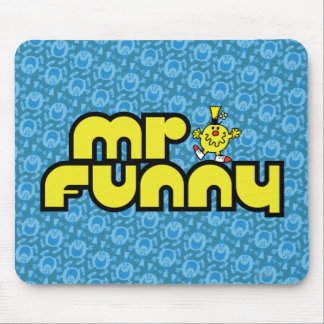 Mr. Funny | Yellow Lettering Mouse Pad
