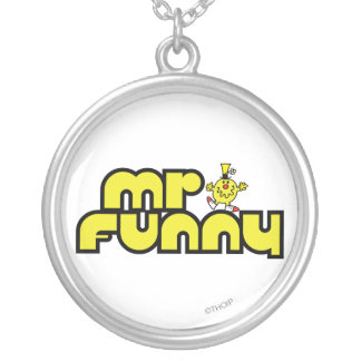 Mr. Funny | Yellow Lettering Silver Plated Necklace