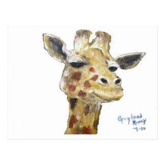 """""""Mr. G. Giraffe"""" Horizonal Postcard"""