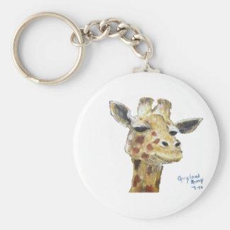 """Mr. G. Giraffe"" Keychain"