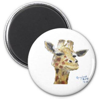 """Mr. G. Giraffe"" Round Magnet"