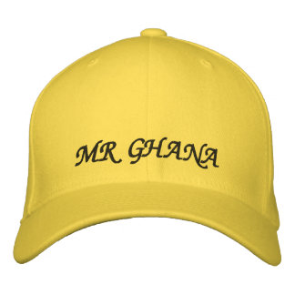 MR GHANA EMBROIDERED BASEBALL HAT