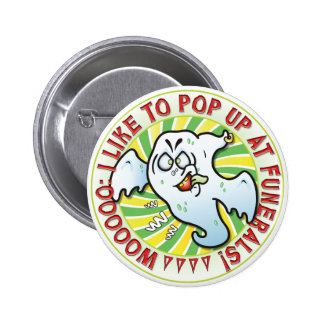 Mr Ghost Funerals Pinback Buttons