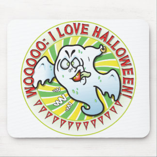 Mr Ghost Halloween Mouse Pad