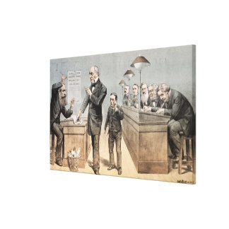 Mr Gladstone and his Clerks Canvas Print