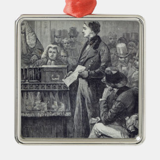 Mr Gladstone delivering his Maiden Speech Metal Ornament