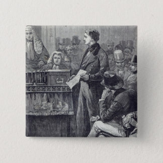 Mr Gladstone delivering his Maiden Speech Pinback Button