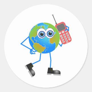 Mr Global Classic Round Sticker