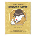 Mr. Goat & Coffee Holiday Party Custom Invitation