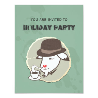 Mr. Goat & His Coffee Holiday Party Invitation