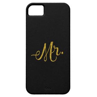Mr. Gold Faux Glitter Metallic Sequins Inspiration iPhone SE/5/5s Case