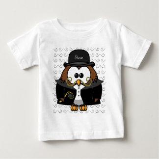 Mr. Gold Mustache Owl Baby T-Shirt