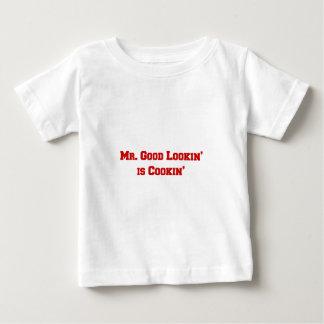 mr-good-lookin-is-cookin-fresh-brown.png baby T-Shirt