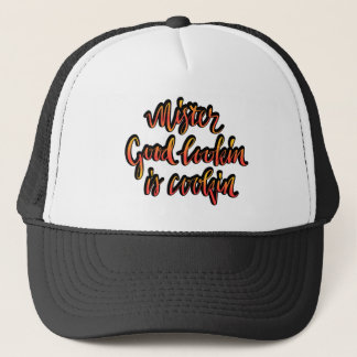 Mr Good lookin is cookin funny bbq hat for men