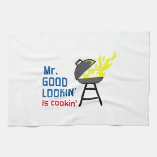 MR GOOD LOOKIN IS COOKIN HAND TOWEL