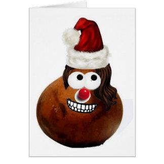 Mr. Gordo~Santa Claus Gourdman Card