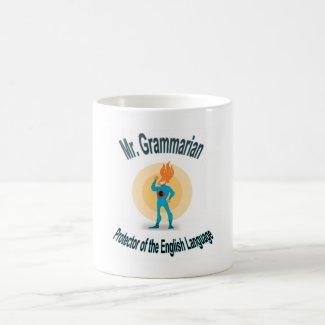 Mr. Grammarian Saves the English Language Classic White Coffee Mug