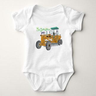 Mr.Grandern construction vehicle motor grader the Baby Bodysuit