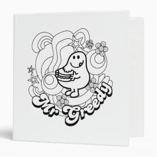 Mr. Greedy | Black & White Swirls & Stars 3 Ring Binder