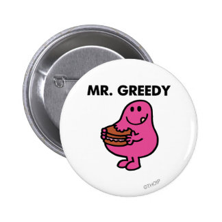 Mr. Greedy Eating Cake 2 Inch Round Button