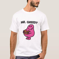 Mr. Greedy Eating Cake T-Shirt