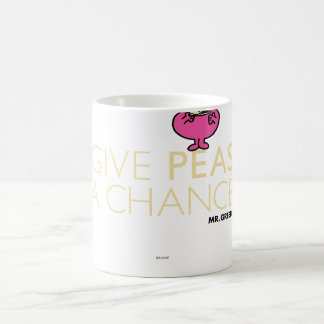 Mr. Greedy | Give Peas A Chance Coffee Mug
