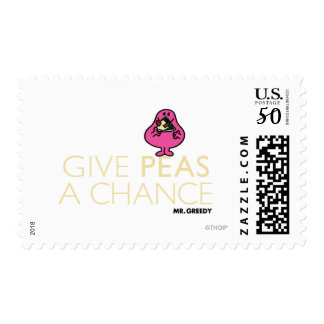 Mr. Greedy | Give Peas A Chance Postage