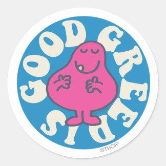 Mr. Greedy | Greed Is Good Classic Round Sticker